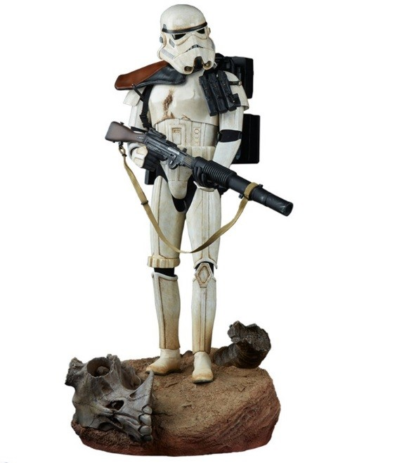 Estátua Sandtrooper: Star Wars:  Uma Nova Esperança Premium Format Escala 1/4 - Sideshow - CD