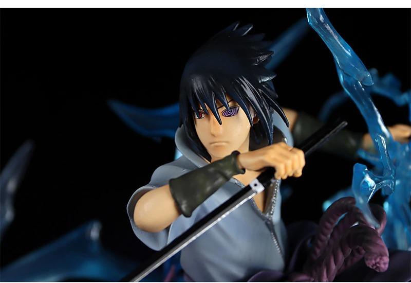 Estátua Sasuke Uchiha Chidori Susanoo Perfurar Naruto Shippuden Escala 1/6 - MKP  Anime Mangá