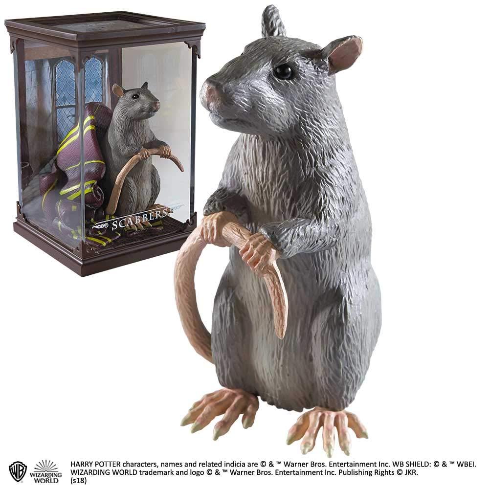 Estátua Rabicho (Scabbers): Harry Potter Criaturas Mágicas (Magical Creatures) - Noble Collection