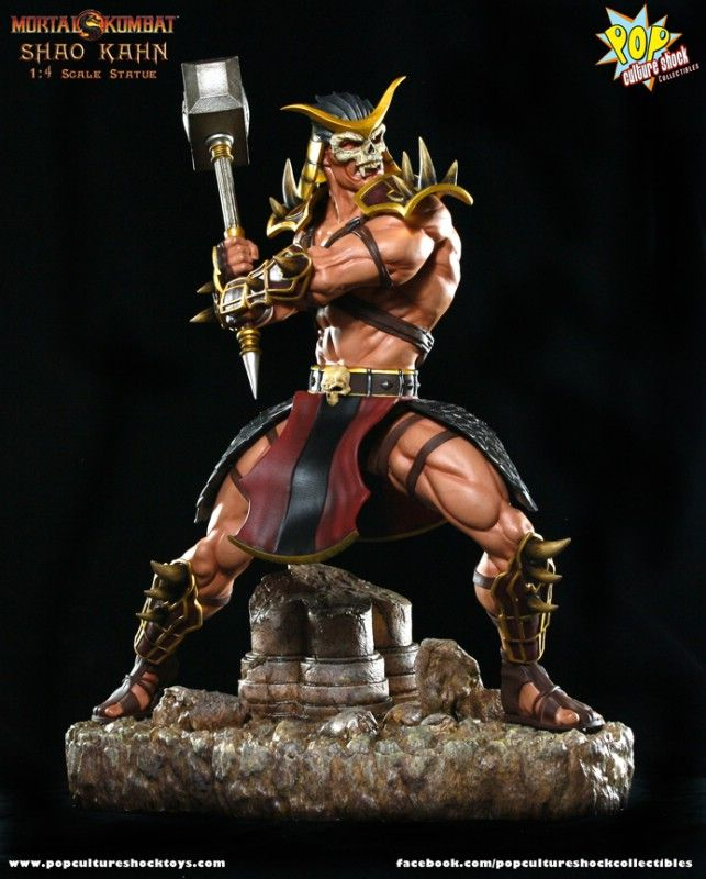 Estátua Shao Kahn: Mortal Kombat Escala 1/4 - Pop Culture Shock