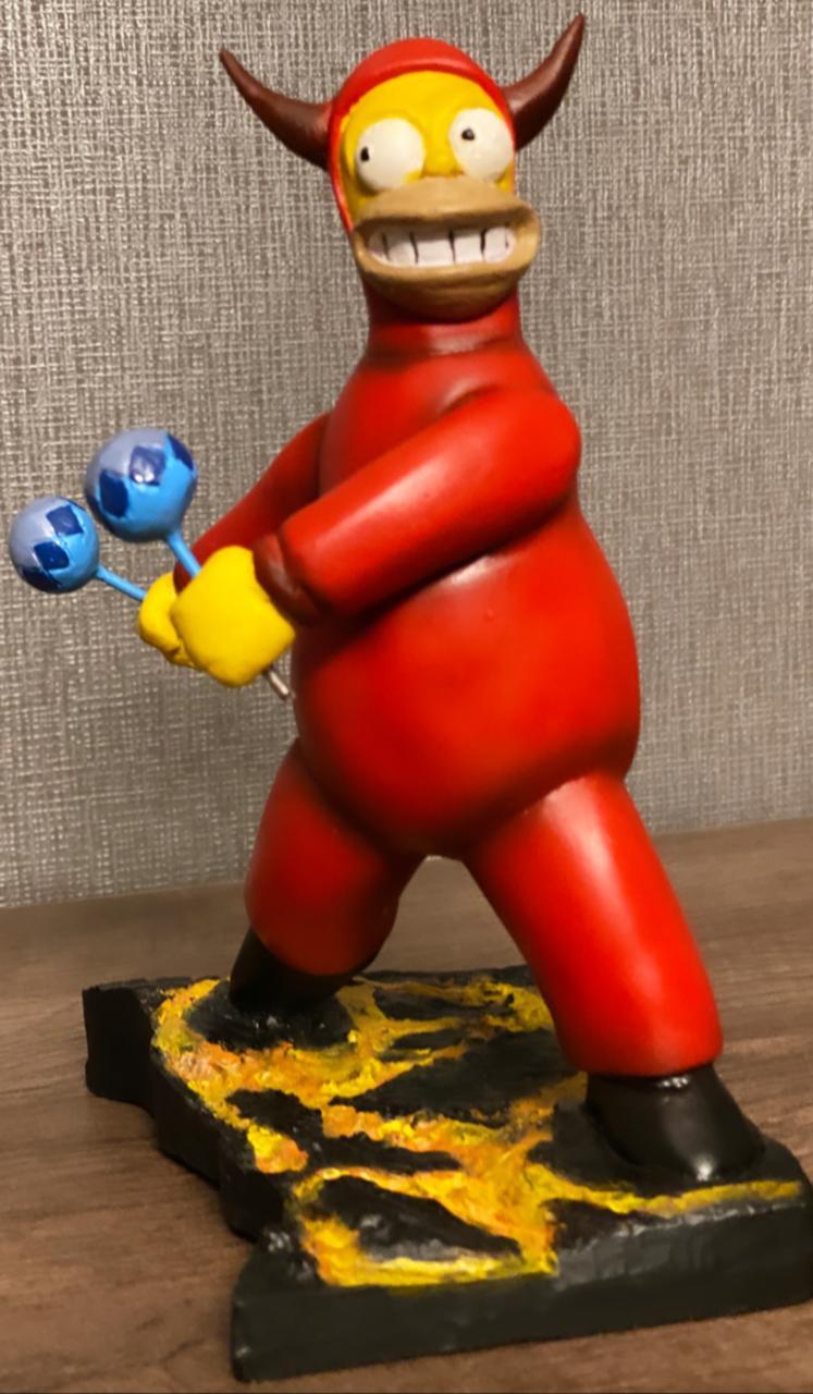Estátua Simpsons Homer Devil (25 cm)