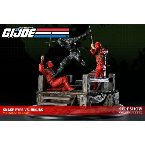 Estátua Snake Eyes Vs Red Ninjas (Diorama): G.I. Joe A American Real Hero - Sideshow