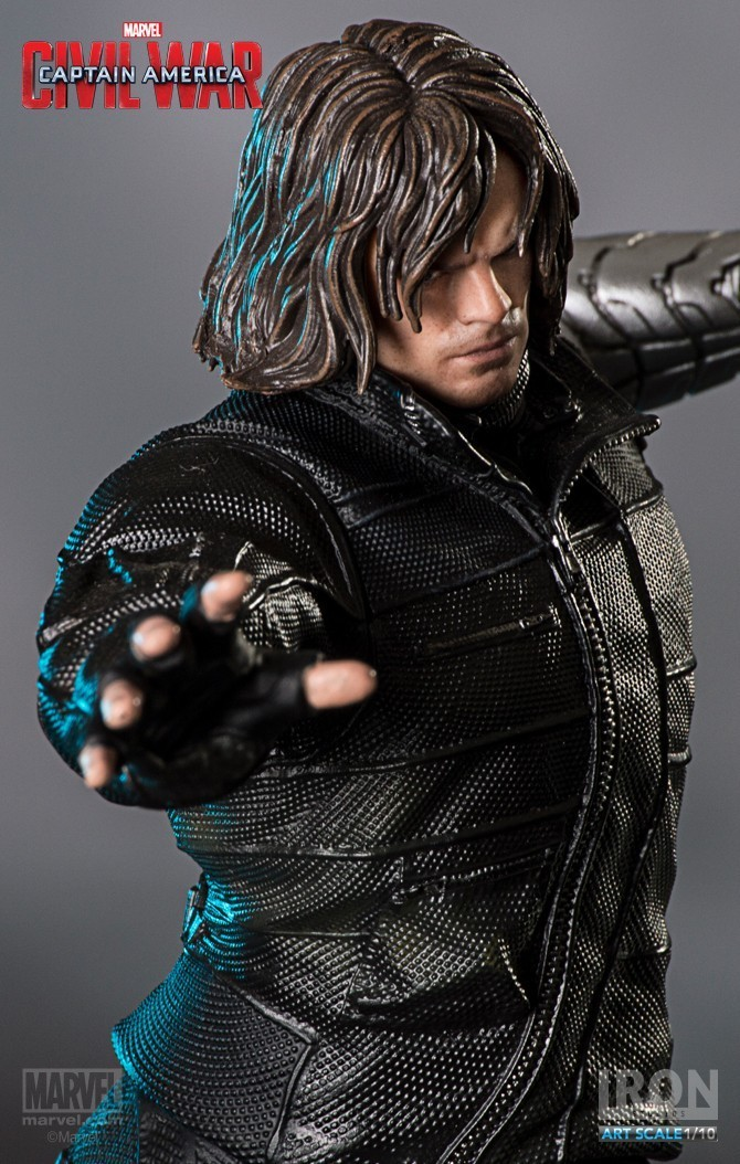 Estátua Soldado Invernal (Winter Soldier): Guerra Civil Art Scale Escala 1/10 - Iron Studios