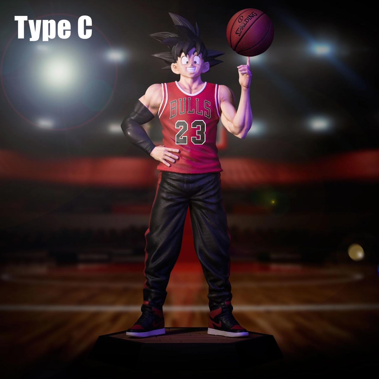 Estátua Son Goku: Dragon Ball Z Basquete Basket Chicago Bulls 21 cm - Anime Mangá - EVALI