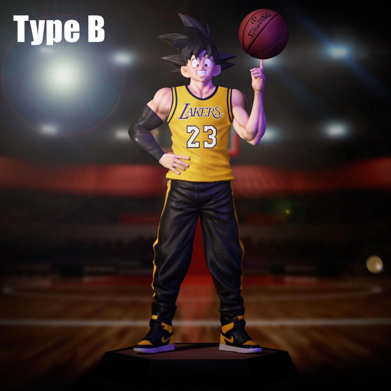 Estátua Son Goku: Dragon Ball Z Basquete Basket Lakers 21 cm - Anime Mangá  - EVALI