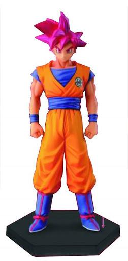 Estátua Son Goku Super Sayajin Deus Dragon Ball Super - Banpresto Bandai