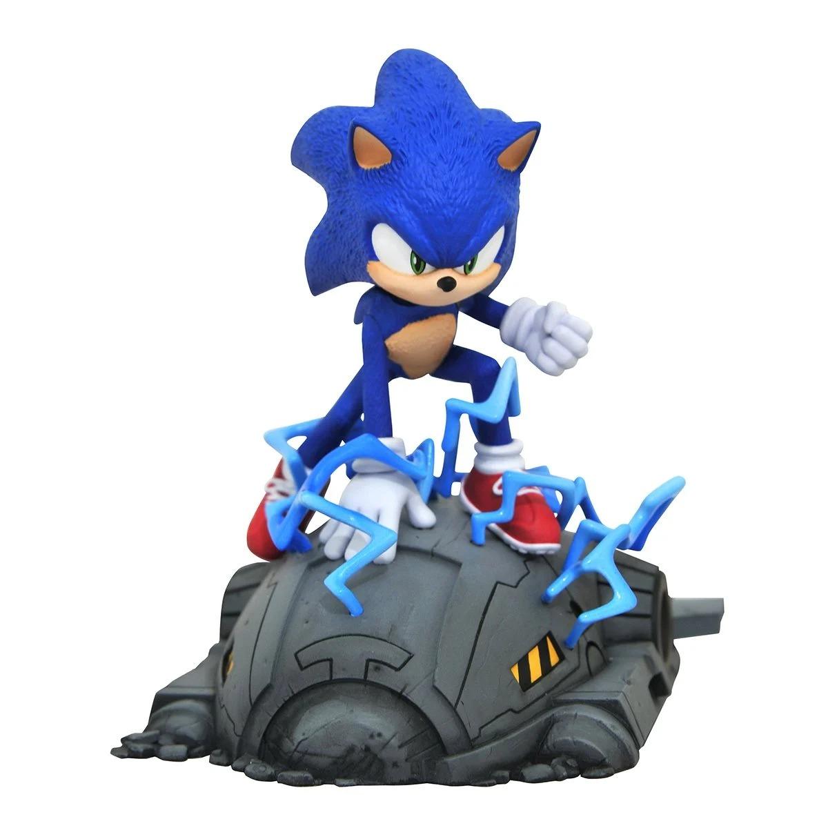 PRÉ VENDA: Estátua Sonic The Hedgehog O FIme Movie Escala 1/6 Sega - Diamond Select