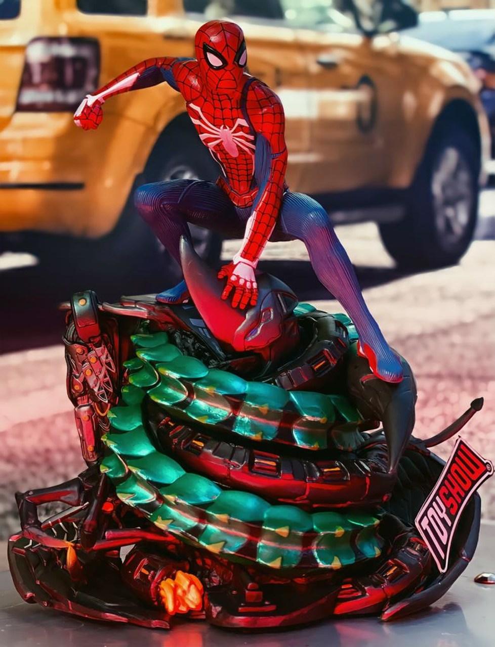 Estátua Spider-Man Homem Aranha Marvel's Spider-Man Playstation 4  Collector's Edition 20cm - EVALI