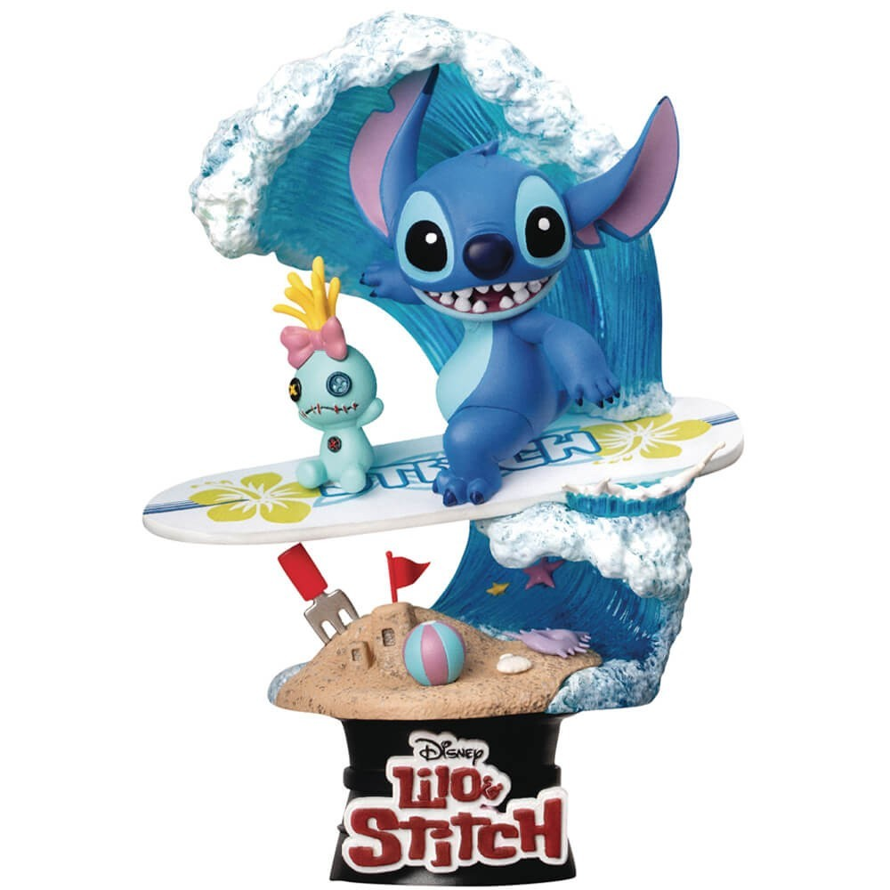 Estátua Stitch Surf: Lilo & Stitch - D-Stage Disney - Beast Kingdom