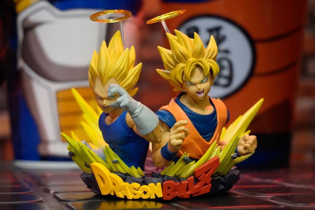 Estátua Super Saiyajin Goku & Super Saiyajin Vegeta: Dragon Ball Z - Banpresto