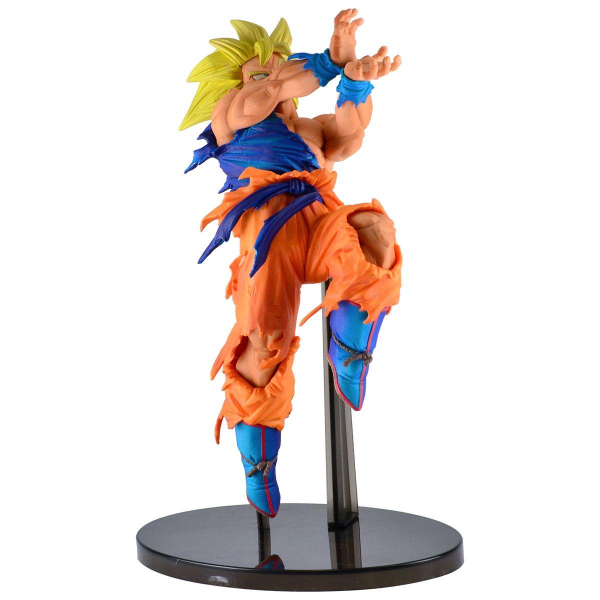 Estátua Super Saiyajin Son Goku (World Figure Colosseum): Dragon Ball Super - Banpresto