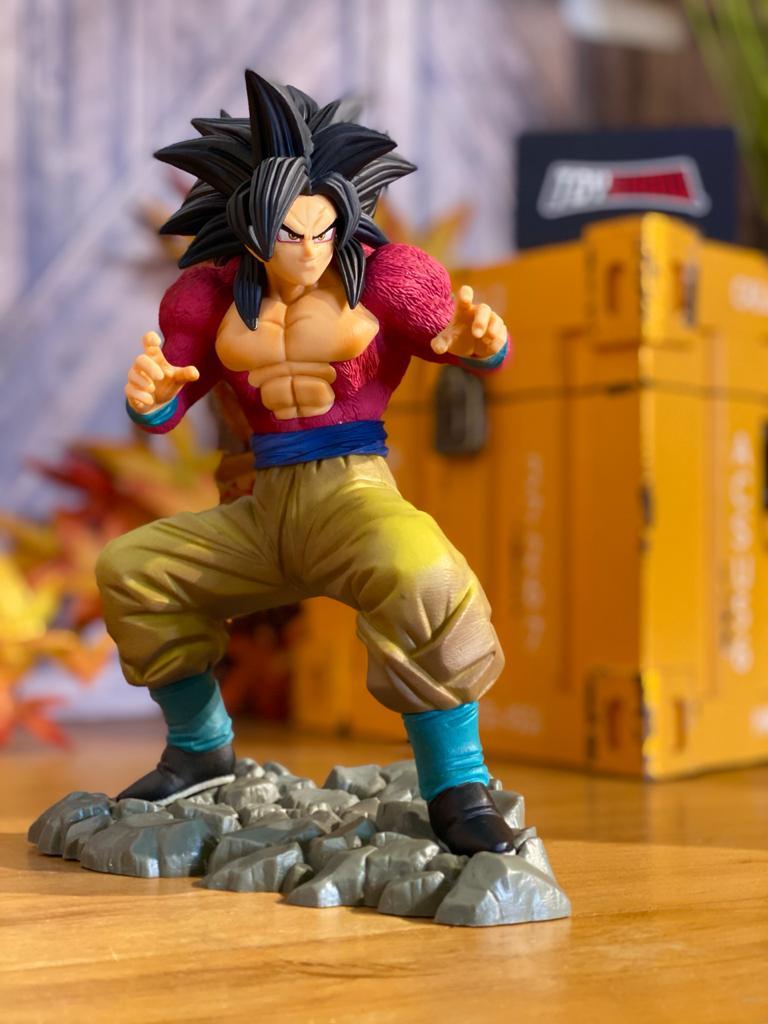 Estátua Super Saiyan 4 Son Goku (Diorama): Dragon Ball Z (Dokkan Battle Anniversary) - Banpresto Bandai