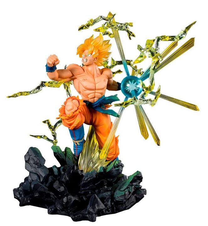 Estátua Super Saiyan Son Goku (The Burning Battles): Dragon Ball Z Figuarts ZERO - Bandai