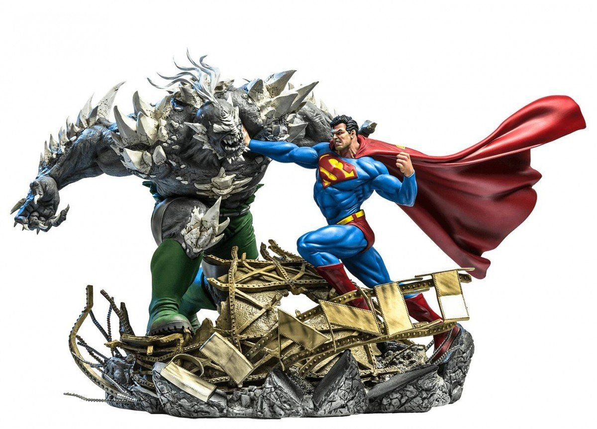 Estátua Superman Vs Doomsday: Diorama de Ivan Reis Diorama Escala 1/6 - Iron Studios - CD