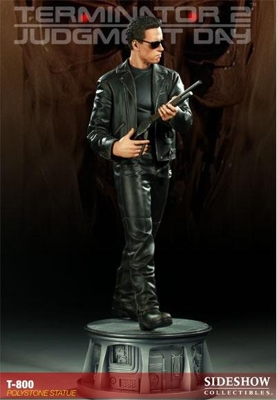 Estátua T-800 O Exterminador do Futuro 2 Terminator 2 Judgment Day Escala 1/4 - Sideshow Collectibles - CD