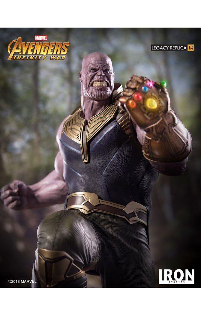 Estátua Thanos: Vingadores Guerra Infinita (Avengers: Infinity War) Legacy Replica (Escala 1/4) - Iron Studios