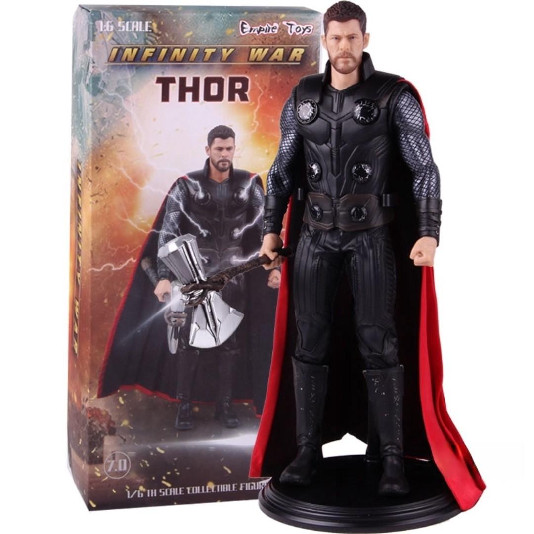 """Estátua """"Thor"""" (Avengers Infinity War) Vingadores Guerra Infinita: Escala 1/6 - Crazy Toys"""