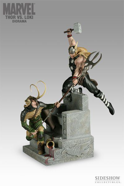 Estátua Thor Vs Loki: Marvel Collectibles - Sideshow - CG