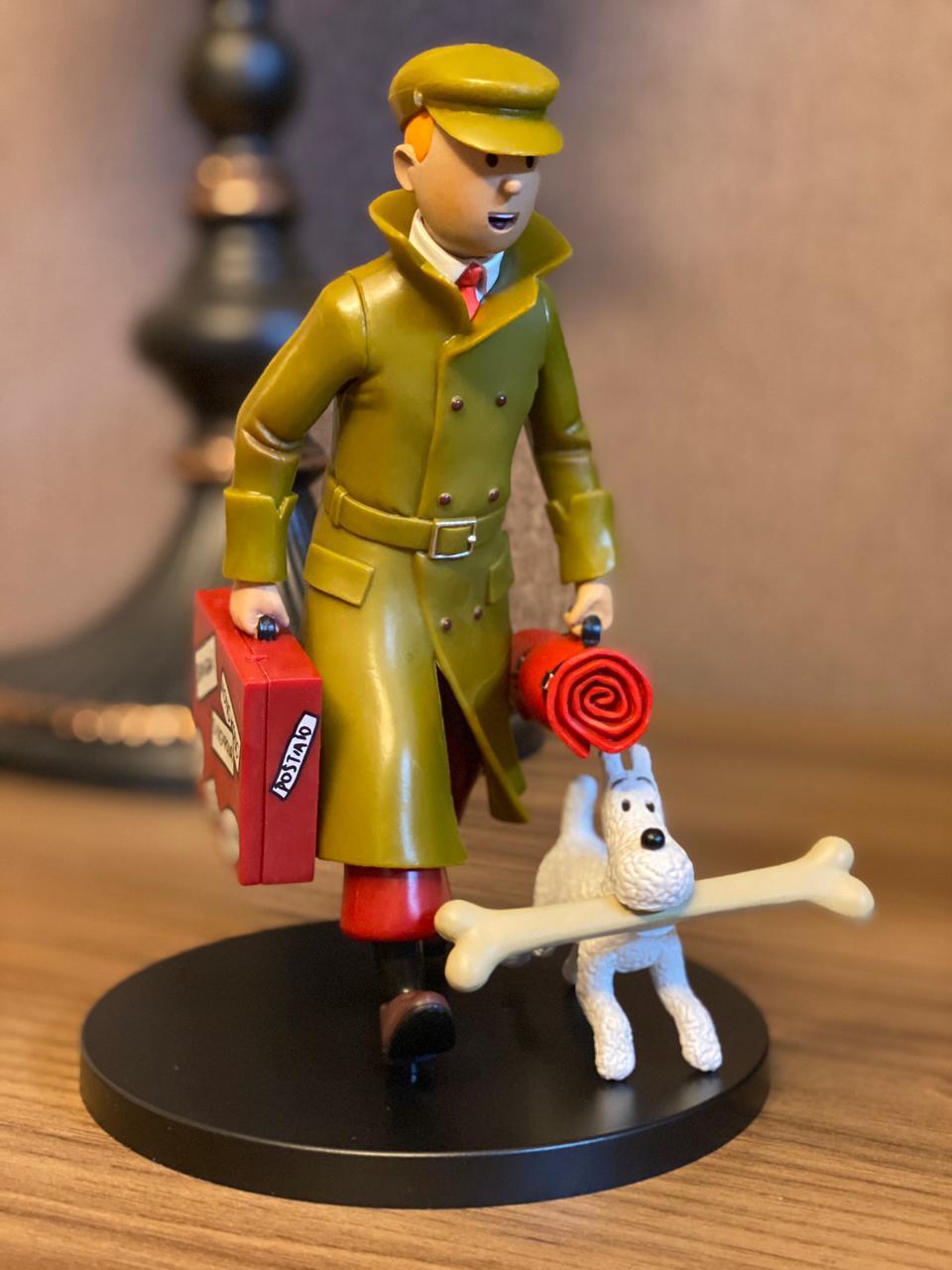 Estátua Tintin Tintim e Milu: As Aventuras de Tintim