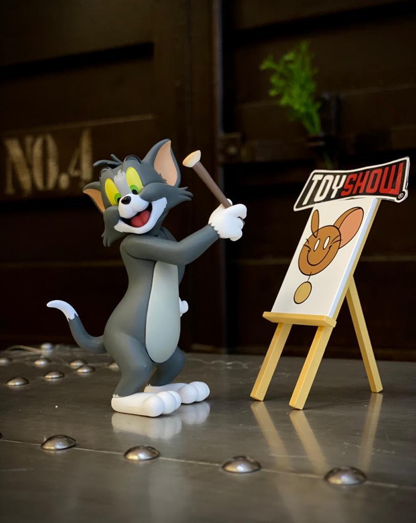 Estátua Tom e Jerry Pintores PVC - 52 Toys