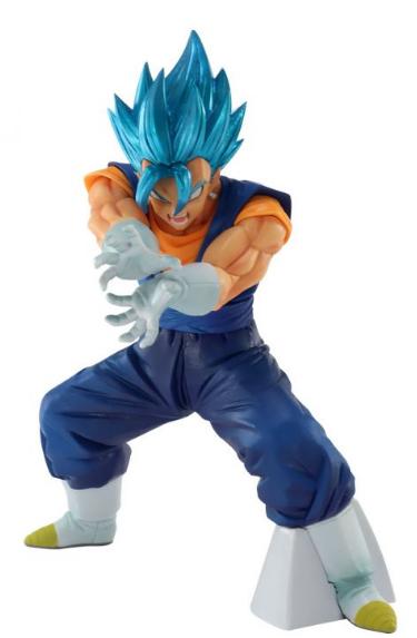 Estátua Vegito Vegetto Super Saiyan God Blue Final Kamehameha Ver. 4: Dragon Ball Super Anime Mangá - Banpresto Bandai