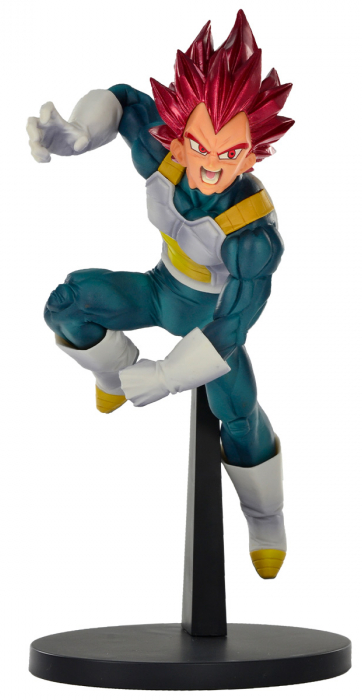 Estátua Vegeta Super Sayajin God: Dragon Ball Super (Blood of Saiyans) Anime Mangá - Banpresto Bandai