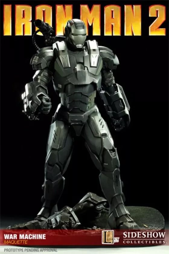 Estátua War Machine (Maquette): Homem de Ferro 2 (Iron Man 2) - Sideshow Collectibles
