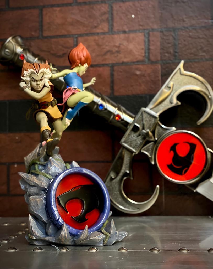 Estátua Wily Kit & Wily Kat: Thundercats Clássico BDS Art Escala 1/10 Deluxe - Iron Studio