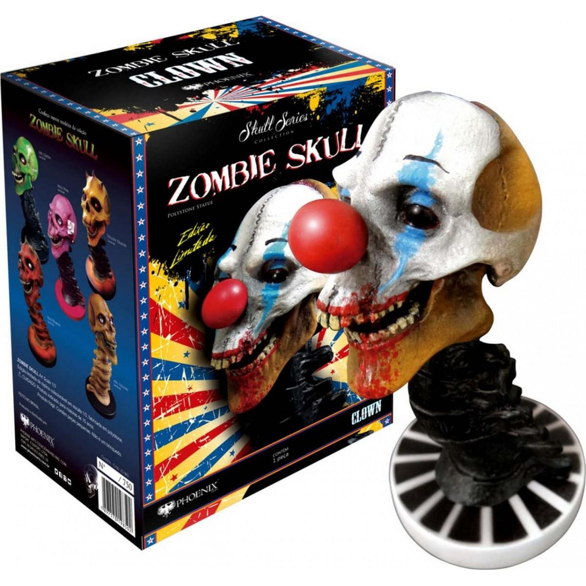 Estátua Zombie Skull Clown (Palhaço): Art Scale Edição Limitada Escala 1/3 - Phoenix Arts