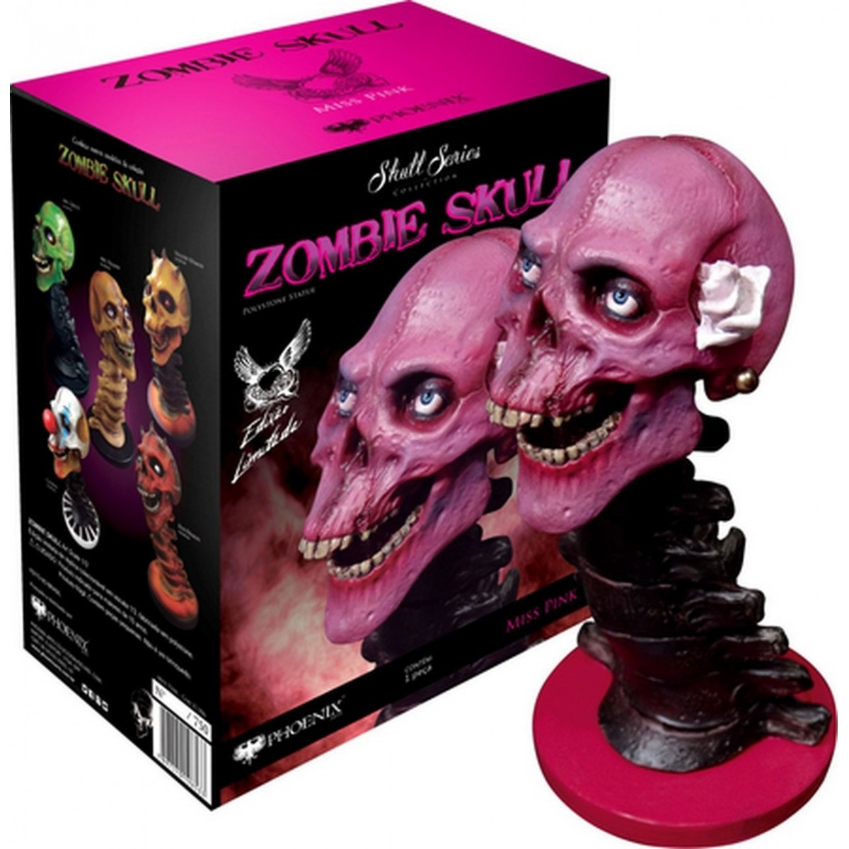 Estátua Zombie Skull Ms Pink: Art Scale Edição Limitada Escala 1/3 - Phoenix Arts