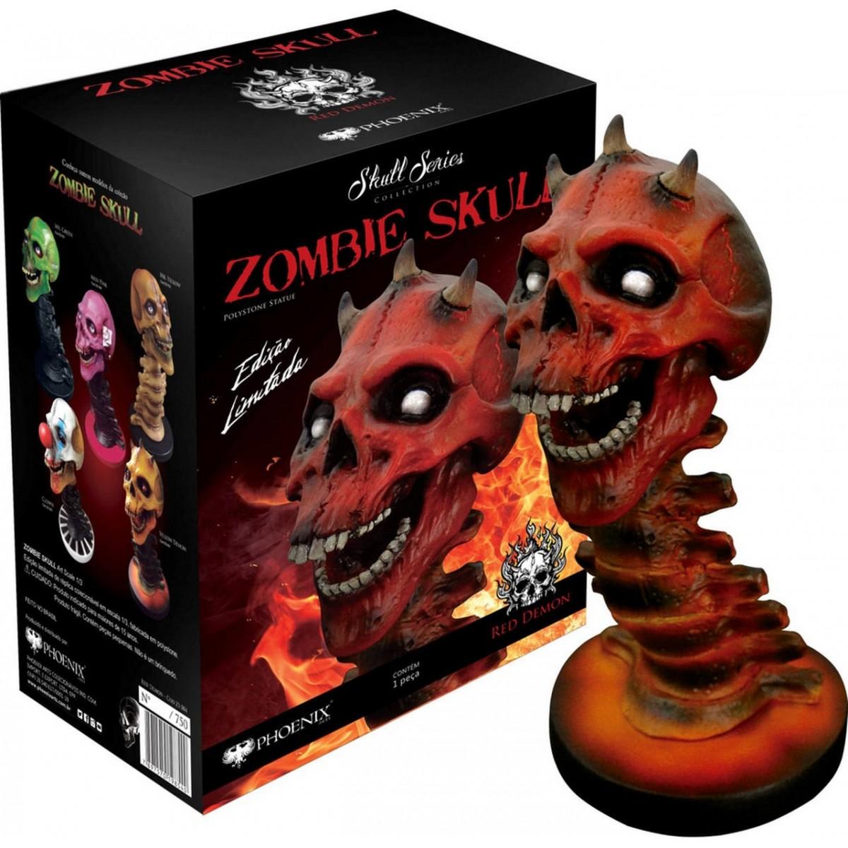 Estátua Zombie Skull Red Demon (Vermelho): Art Scale Edição Limitada Escala 1/3 - Phoenix Arts
