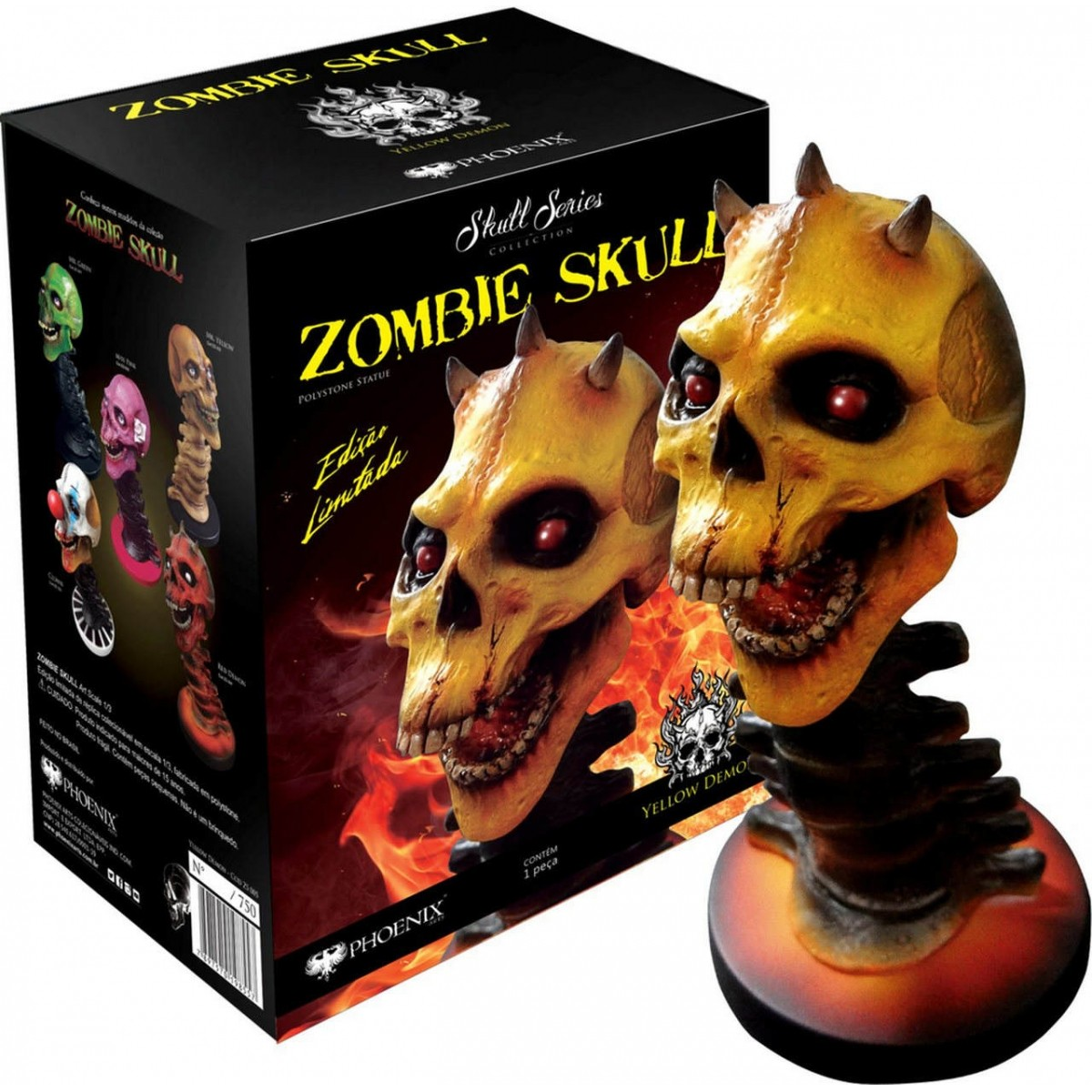Estátua Zombie Skull Yellow Demon (Amarelo): Art Scale Edição Limitada Escala 1/3 - Phoenix Arts