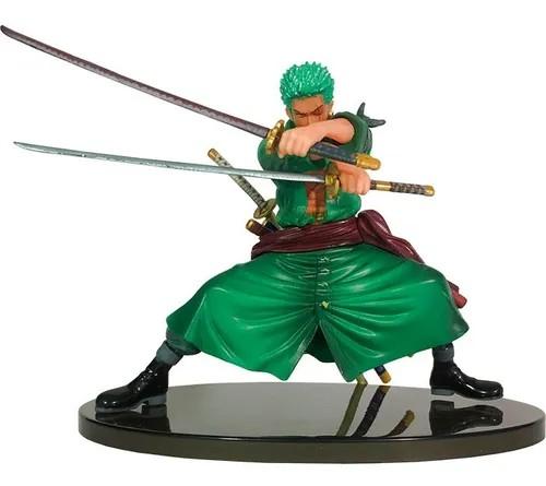Estátua Zoro Com Espadas: One Piece Colosseum Figure - Banpresto