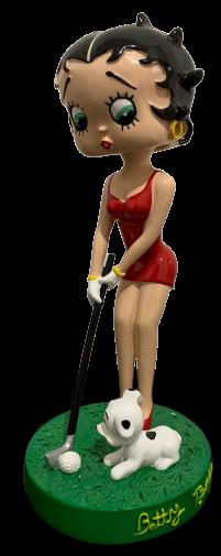 Estatueta Betty Boop (Bobble Head): Jogando Golf