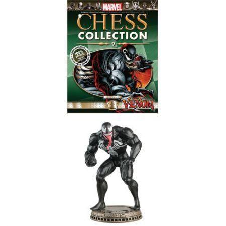 Estatueta Colecionavel + Revista #9 - Venom / Black Pawn - Eaglemoss