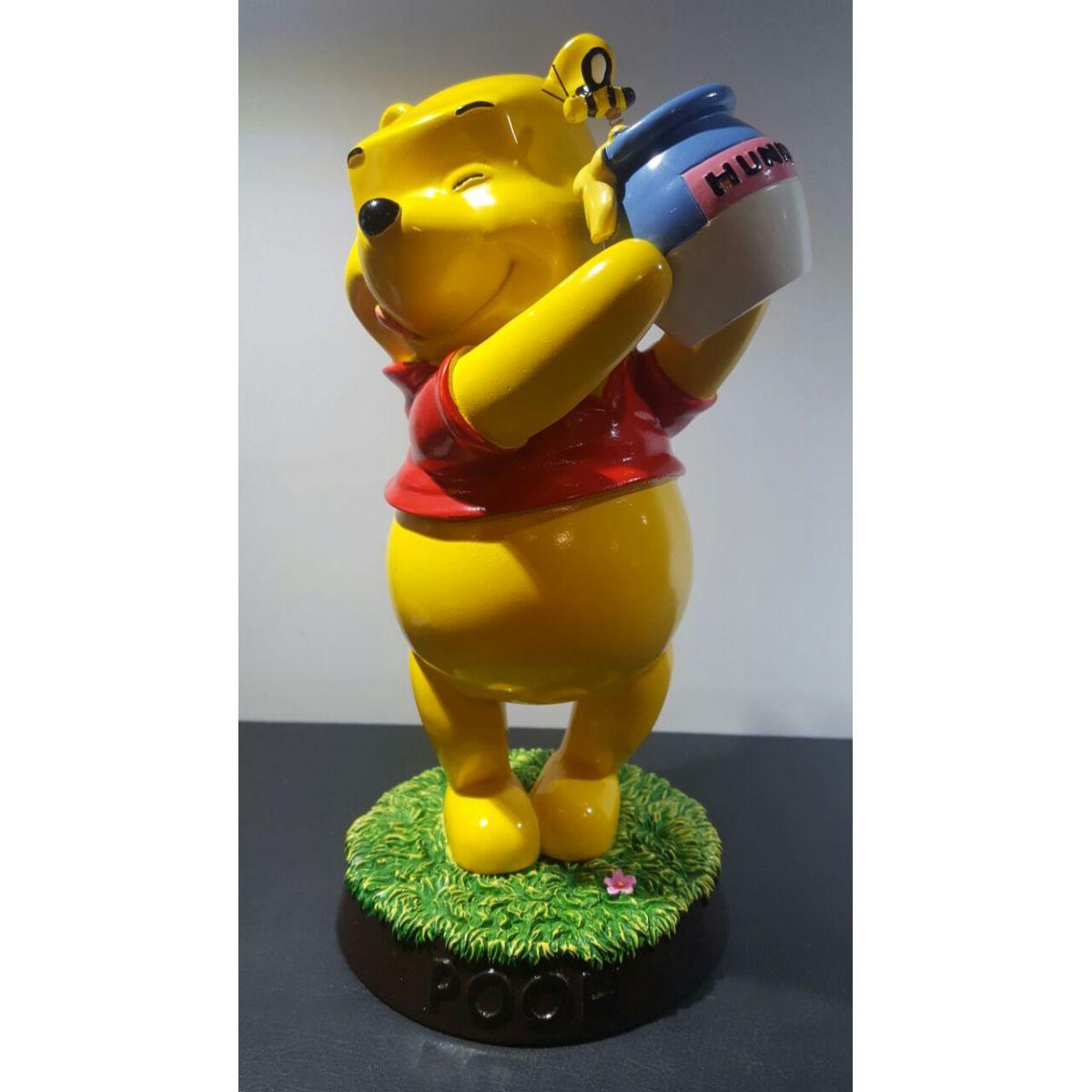 Estatueta Disney Ursinho Pooh Pote de Mel