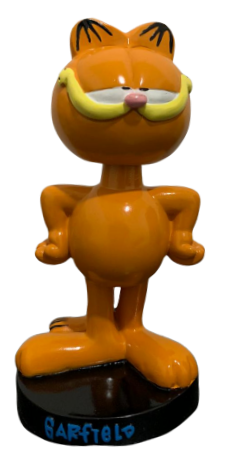 Estatueta Garfield (Bobble Head): Mão na cintura