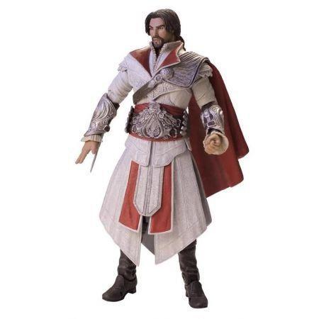 Ezio Ivory Sem Capuz Assassins Creed Brotherhood - Neca