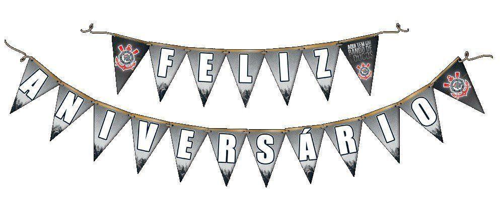 Faixa Feliz Aniversário: Corinthians - Festcolor