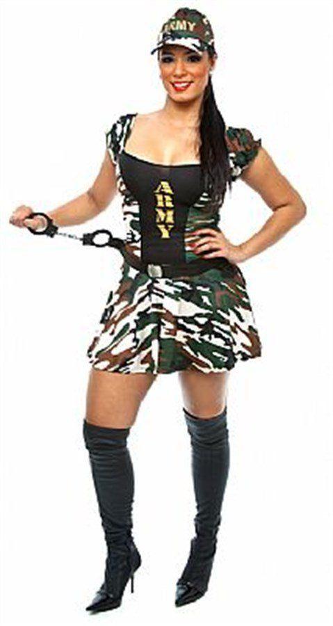 Fantasia Adulto Feminino: Militar Sexy