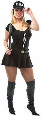 Fantasia Adulto Feminino: Policial FBI Sexy Girl