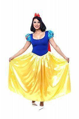 Fantasia Adulto Feminino: Princesa Branca de Neve