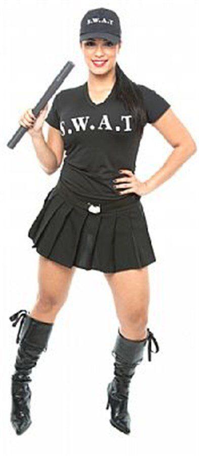Fantasia Adulto Feminino: SWAT Sexy Girl