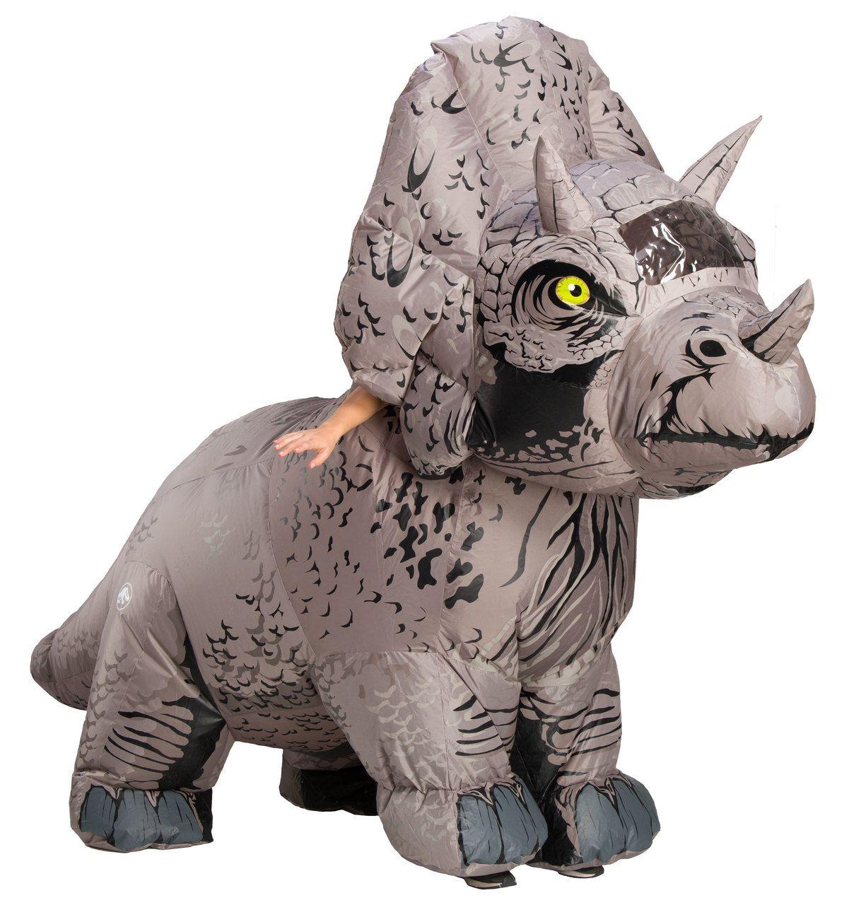 Fantasia Adulto Inflável Dinossauro Triceratops: Jurassic World - Rubies - CD