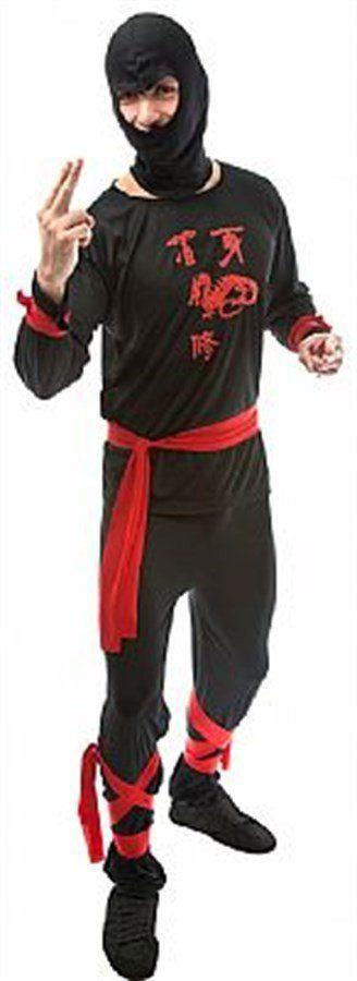 Fantasia Adulto Masculino: Ninja Japonês Preto