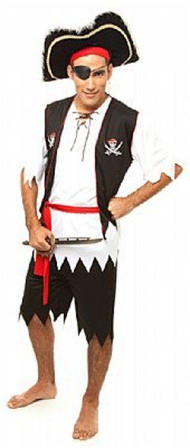 Fantasia Adulto Masculino: Pirata do Caribe