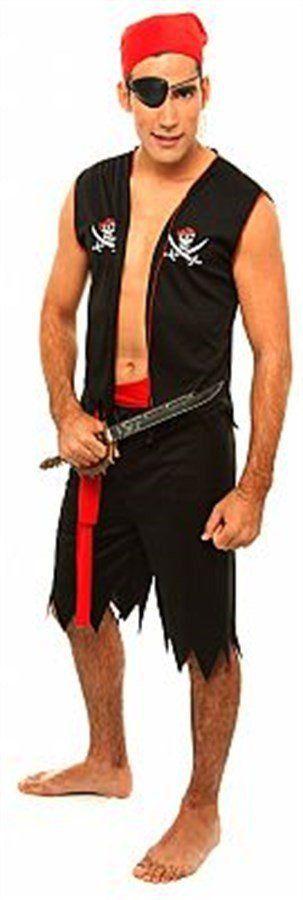 Fantasia Adulto Masculino: Pirata do Caribe 3 de Bermuda