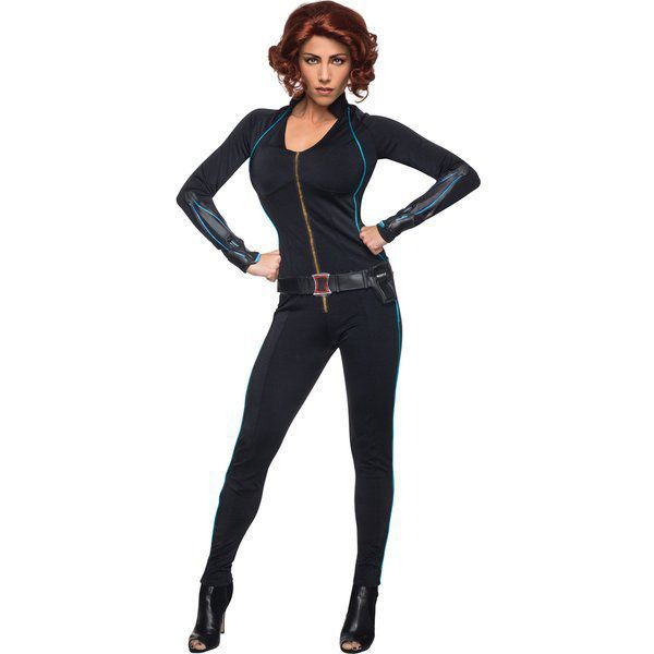 Fantasia Avengers 2 Viuva Negra Sexy Deluxe  tamanho M - DISGUISE COSTUMES