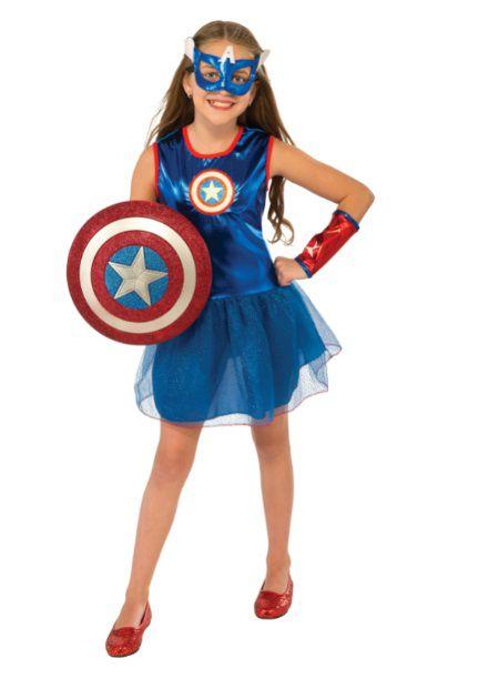 Fantasia Capitão América (Feminino) Infantil Com Tutu - Rubies Costume - CD