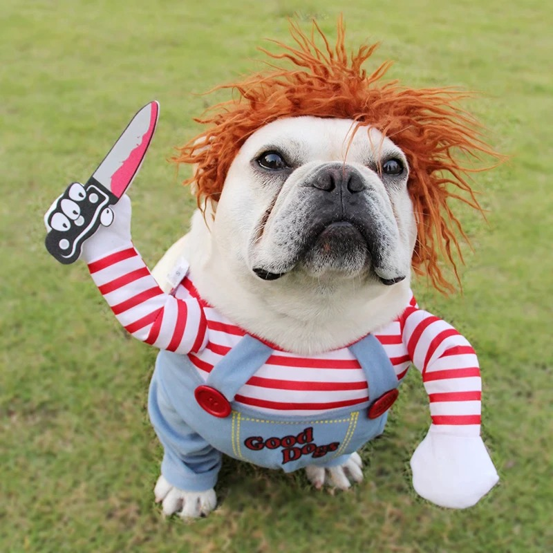 Fantasia Chucky Dog Roupa Para Cachorro Cosplay Good Dog - EVALI